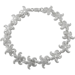 Sterling Silver Polished Starfish Link Bracelet