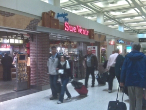Sue Venir store at the Houston airport.