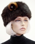 Possum Fur Hat Cossack with Rose